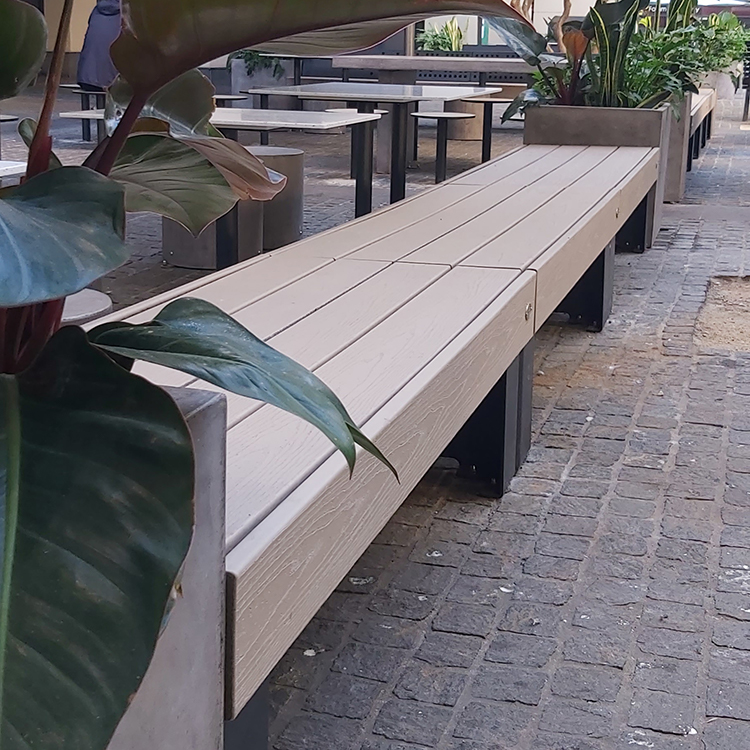 Outdoor furniture package installed at The Forum for their alfresco foodcourt