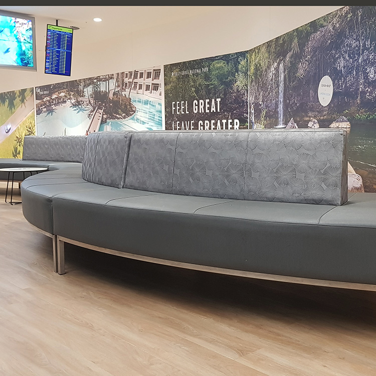 Hub curved lounges for Cairns Airport